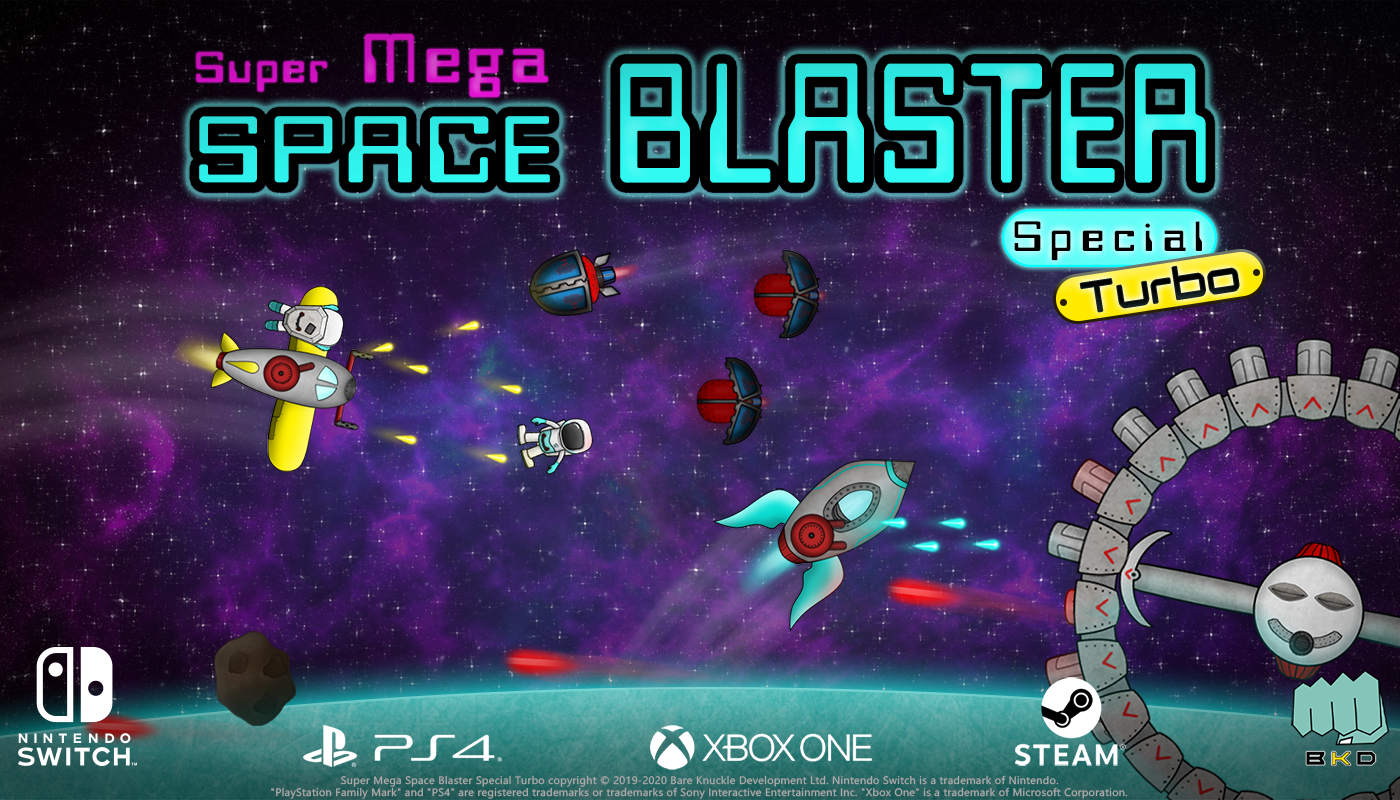 Super Mega Space Blaster Special Turbo Out Now on Nintendo Switch, PS4, Xbox One & Steam